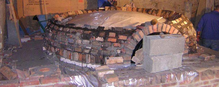 Disposition des briques autour de la voûte
