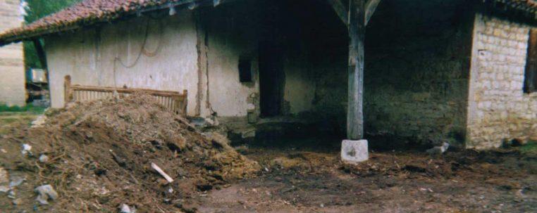 Travaux de nettoyage du domaine du Sougey dans l'Ain